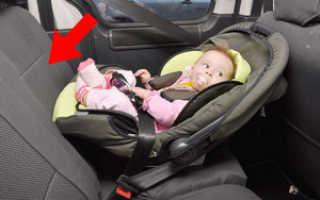 Как пристегнуть автолюльку в машине