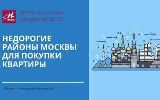 В каком районе москвы самые дешевые квартиры